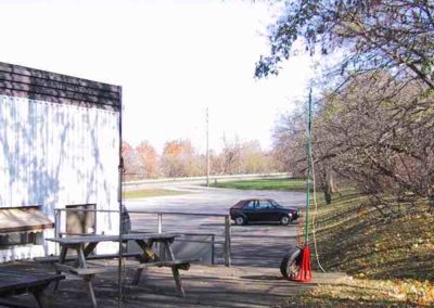 12. VA3NRC Stn - Exterior Rear - Counter weighted dual dual-band antennas {Oldest Locn} RedCross_01