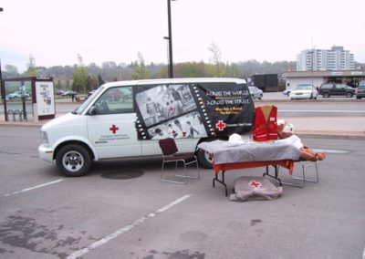 19. Eventually, even a Mascot Bear gets bored Red_Cross_Service_Van